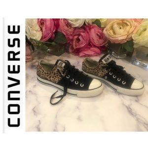 Converse Animal Leopard Print Low Tops